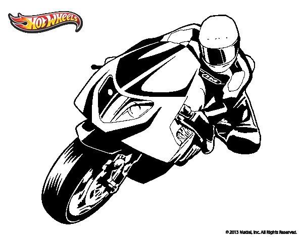Dibujo de Hot Wheels Ducati 1098R para Colorear