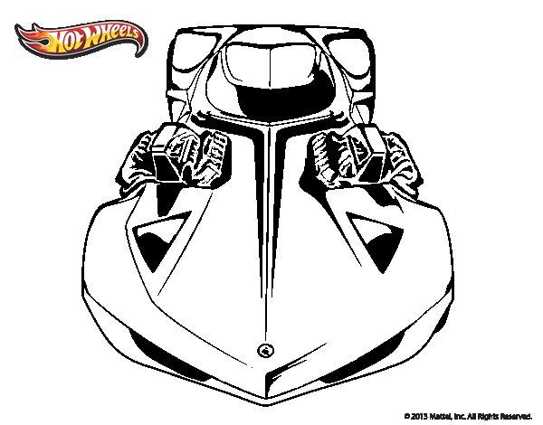 Dibujo de Hot Wheels Lamborghini Gallardo para Colorear