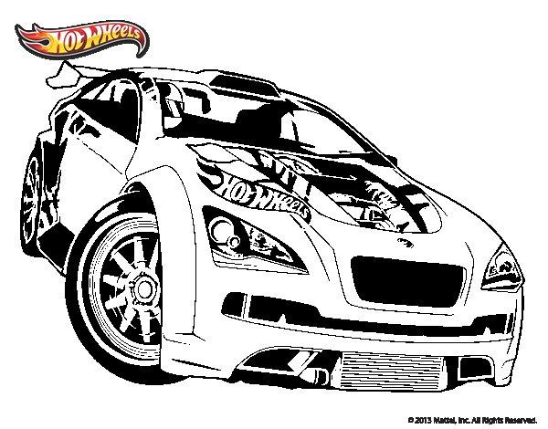 Dibujo de Hot Wheels Megane Trophy para Colorear  Dibujosnet