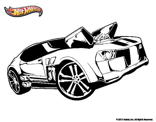 Dibujo de Hot Wheels Twinduction para Colorear