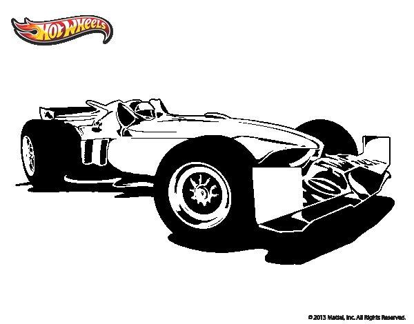 Dibujo de Hot Wheels Tyrrell P34 para Colorear  Dibujosnet