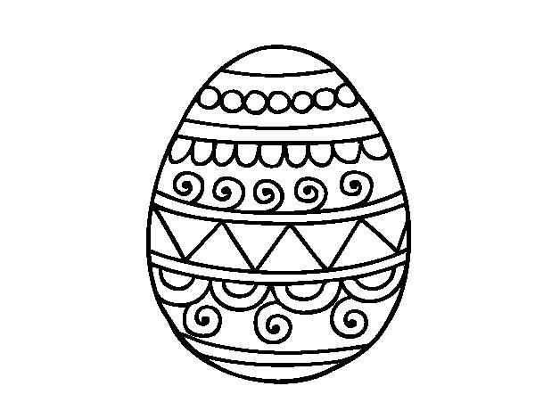 Dibujo de Huevo de Pascua decorado para Colorear - Dibujos.net