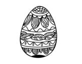 Dibujo de Huevo de Pascua estampado vegetal