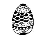 Dibujo de Huevo de Pascua estilo japonés para colorear