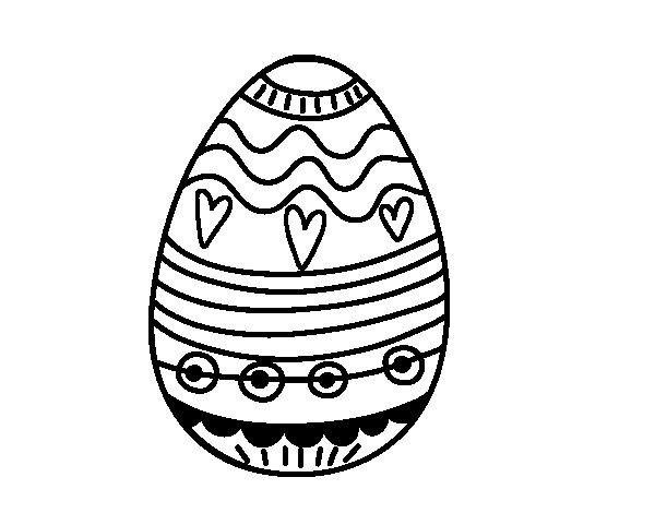 Dibujo de Huevo de Pascua para decorar para Colorear  Dibujosnet