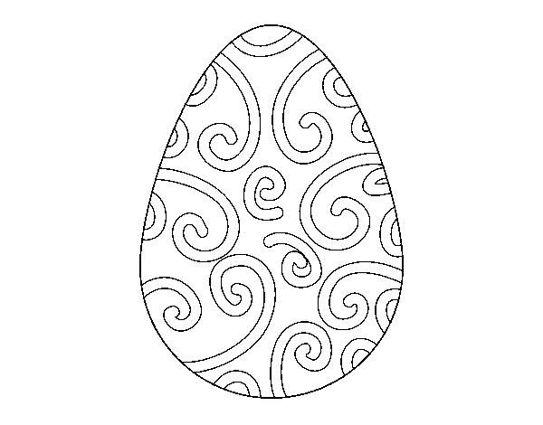 Dibujo de Huevo decorado para Colorear