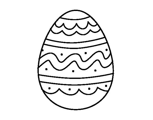 Dibujo de Huevo del da de Pascua para Colorear  Dibujosnet