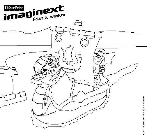 Dibujo de Imaginext 19 para Colorear