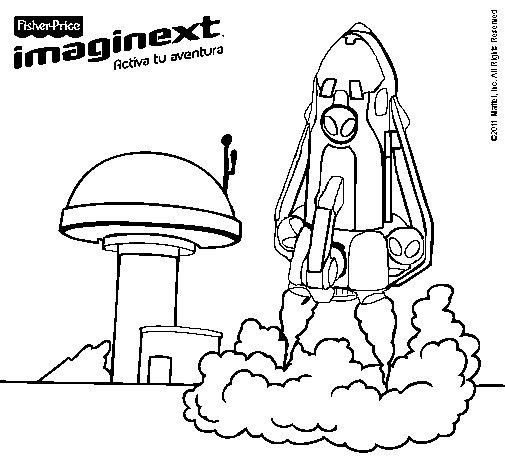Dibujo de Imaginext 8 para Colorear