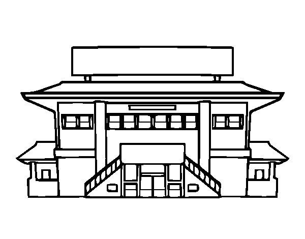 Dibujo de Instituto para Colorear