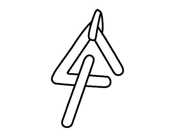Dibujo de Instrumento Triangulo para Colorear  Dibujosnet