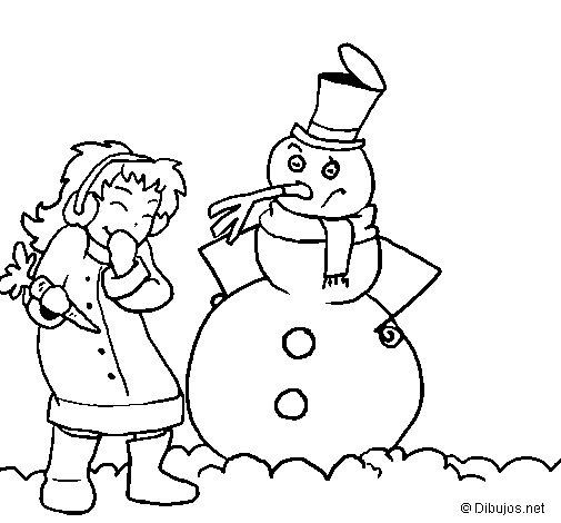 Dibujo de Invierno para Colorear