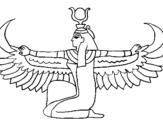Dibujo de Isis para colorear