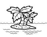 Dibujo de Isla desierta para colorear