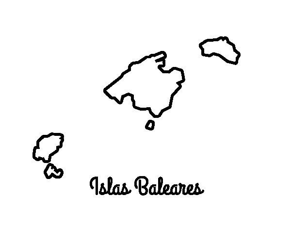 Dibujo de Islas Baleares para Colorear