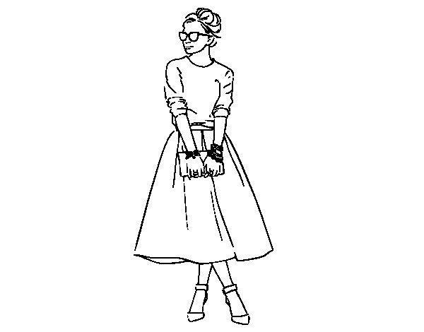 Imagen De Una Silueta De Una Mujer Para Colorear: Dibujo De It Girl Para Colorear