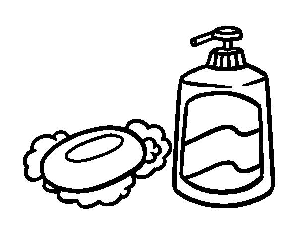 Imagenes De Un Baño Para Colorear:Soap Coloring Page