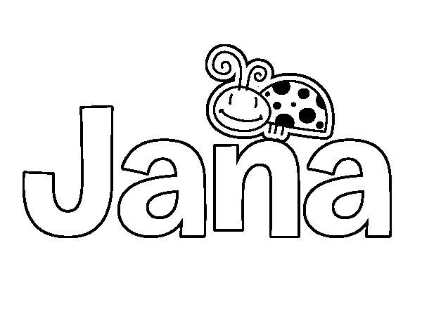 Dibujos Para Pintar Online De Disney I: Dibujo De Jana Para Colorear