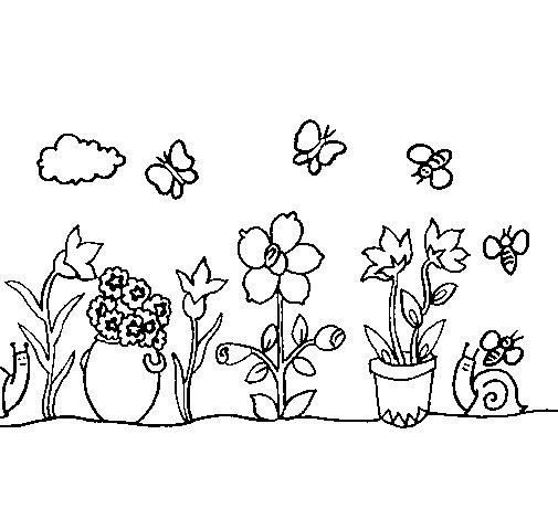 Dibujo de Jardín para Colorear