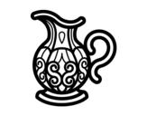 Dibujo de Jarra de agua para colorear