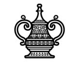 Dibujo de Jarrón Árabe para colorear