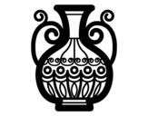 Dibujo de Jarrón decorado para colorear