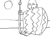 Dibujo de Jefe angoles para colorear