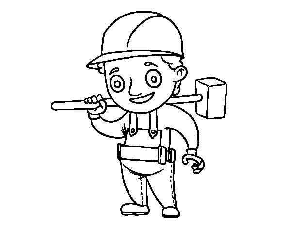 Dibujo de Jefe de obra para Colorear