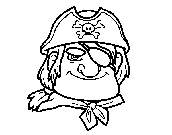 Worksheet. Dibujo de Jefe pirata para Colorear  Dibujosnet