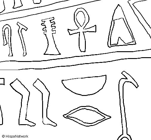 Dibujo de Jeroglífico para Colorear