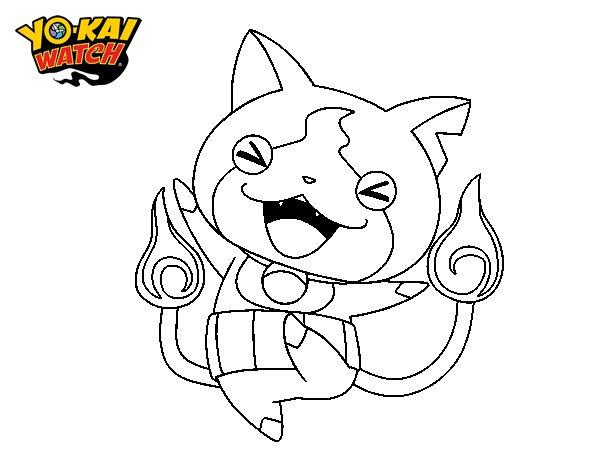Dibujo de Jibanyan feliz para Colorear