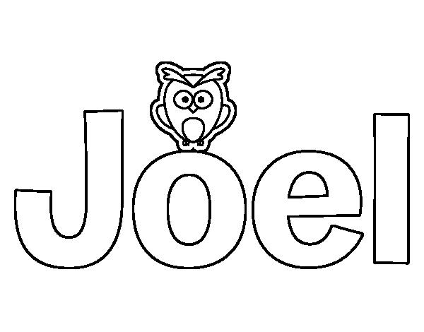 Dibujo de Joel para Colorear  Dibujosnet