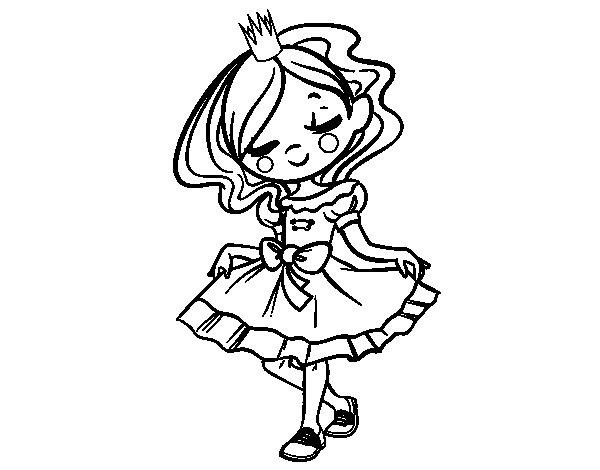 Dibujo de Joven princesa para Colorear