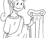 Dibujo de Joven romana para colorear