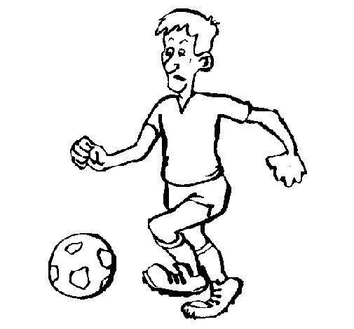 Dibujo de Jugador de fútbol para Colorear