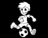 Dibujo de Jugador de fútbol con balón