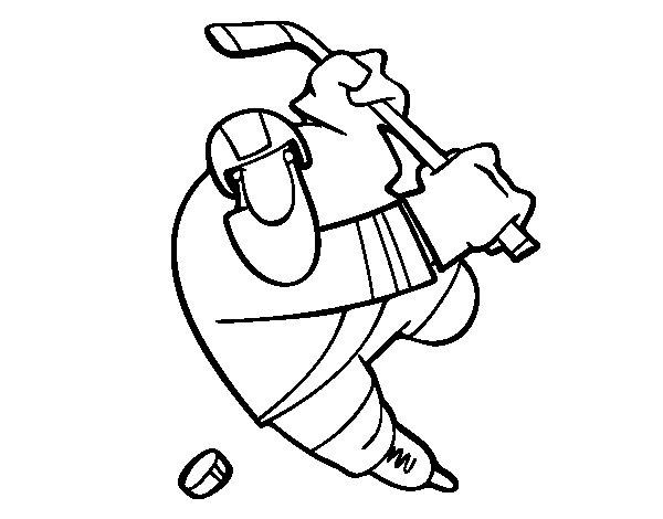 Dibujo de Jugador de hockey para Colorear