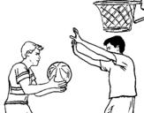 Dibujo de Jugador defendiendo para colorear