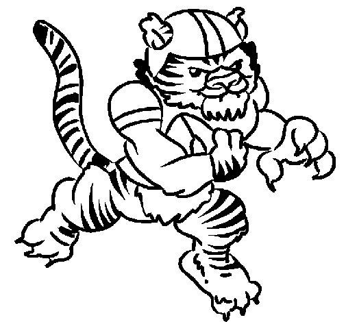 Dibujo de Jugador tigre para Colorear