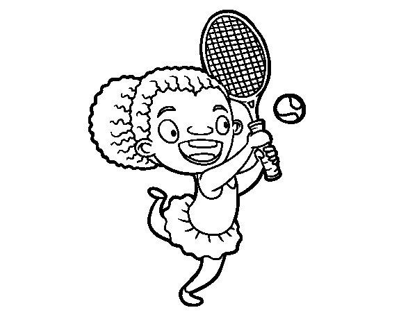 Dibujos Para Colorear De Niños Jugando Tenis ~ Ideas Creativas Sobre ...
