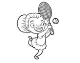 Dibujo de Jugadora de tenis para colorear