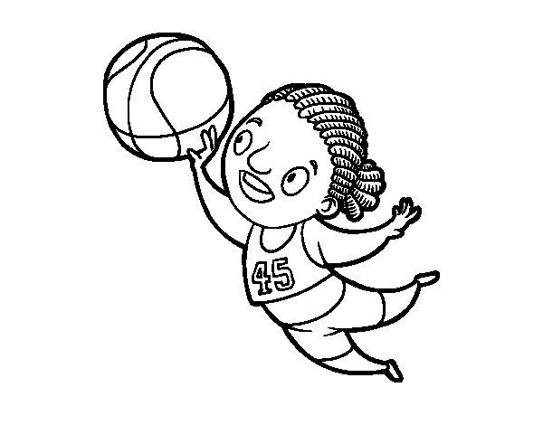 Dibujo de Jugadora de voleibol para Colorear
