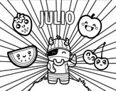 Dibujo de Julio para colorear
