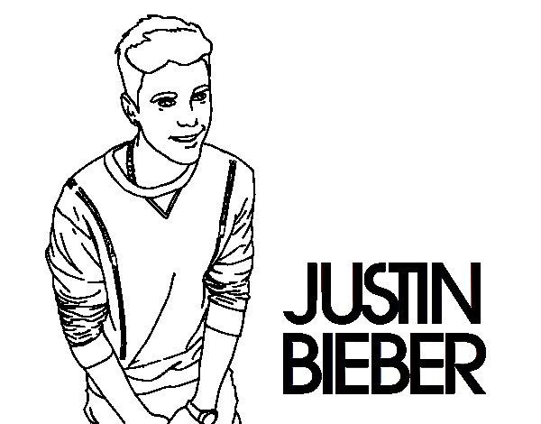 Dibujo de Justin Bieber para Colorear
