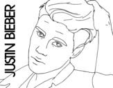Dibujo de Justin Bieber primer plano para colorear