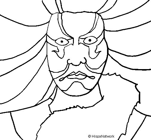 Dibujo de Kabuki para Colorear