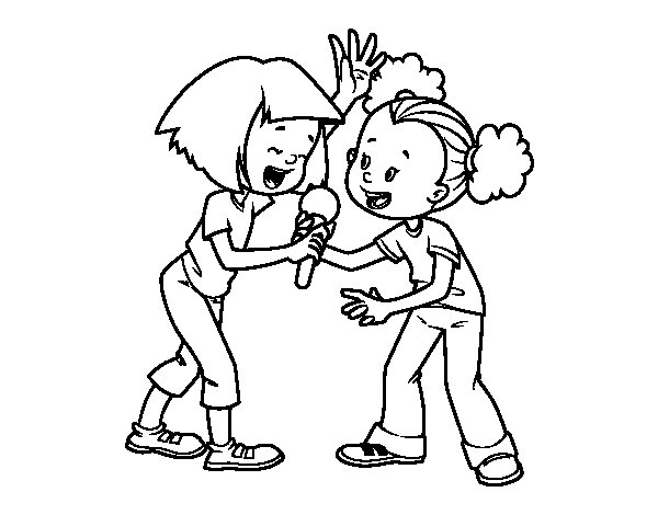Dibujo de Karaoke para Colorear