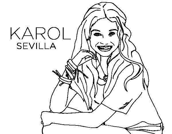 Dibujo de Karol Sevilla de Soy Luna para Colorear
