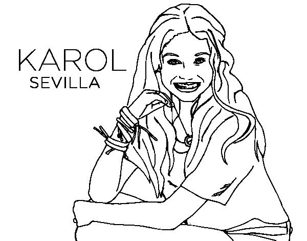 Soy Luna 3 Para Colorear: Dibujo De Karol Sevilla De Soy Luna Para Colorear