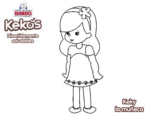 Dibujo de Keky la muñeca para Colorear